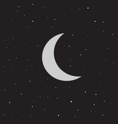 moon and stars flat vector image