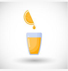 orange juice flat icon vector image vector image