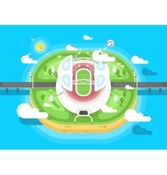 Stadium flat design vector image vector image