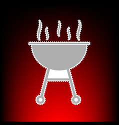 barbecue simple vector image