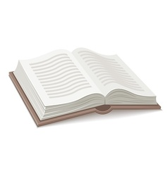 Book with open spread vector image