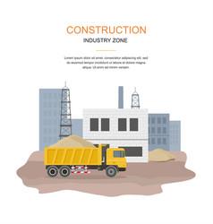 building factory industry zone construction speci vector image vector image