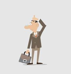 businessman is thinking about the issue vector image