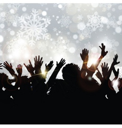 christmas party 2409 vector image vector image