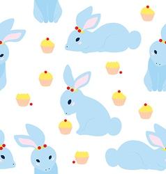 Cute Rabbit Pattern vector image vector image