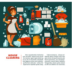 house cleaning service promotional banner with vector image vector image