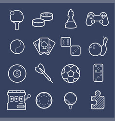 set of games icons vector image vector image