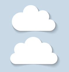 Clouds applique banners vector image