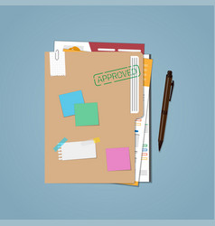 folder approved resumes vector image vector image