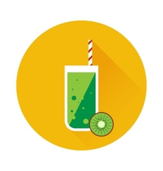 Kiwi shake or juice icon vector image vector image