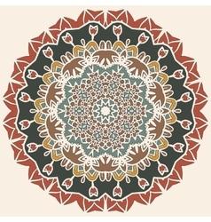 Oriental mandala motif round lase pattern vector image