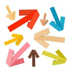 Paper Arrows Set in Retro Colors vector image vector image
