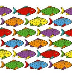 Rainbow Fish Seamless Pattern vector image vector image