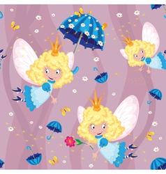 seamless happy fairy vector image vector image