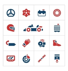 Set color icons of karting vector image vector image