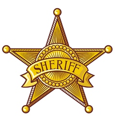 Sheriff badge vector image vector image
