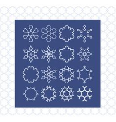 stylish creative geometric signs modern style vector image vector image