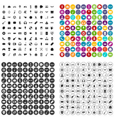 100 youth culture icons set variant vector