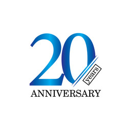 20 year anniversary template design vector image