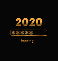 2020 new year bar loading golden banner vector image