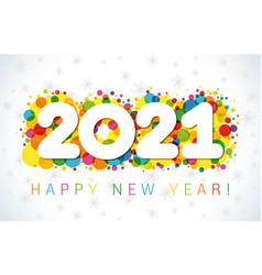 2021 bubbles white snowy bg vector image