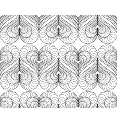 Abstract pattern with a lined symmetric hearts vector