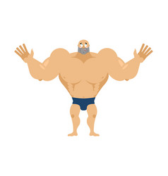 athlete surprised astonished bodybuilder agaze vector image
