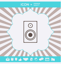 audio speaker icon graphic elements for your vector image