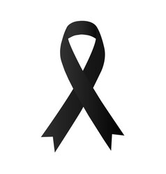 awareness black ribbon melanoma skin cancer vector image