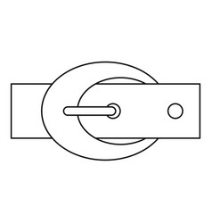 belt with oval shaped buckle icon outline style vector image