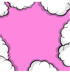 Blank balloon template dot comic background style vector