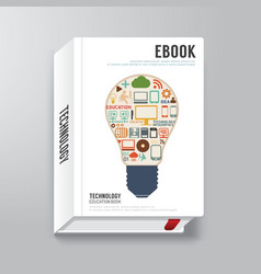 Book cover digital design minimal style template vector