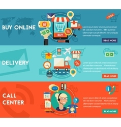 Buy Online Call Center And Delivery Concept vector image