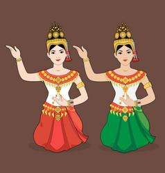 Cambodia dance vector