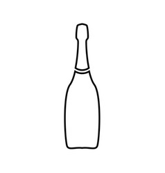 champagne it is black icon vector image