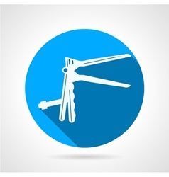 Circle icon for gynecology speculum vector