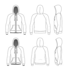 Clothing set raglan hoodie vector