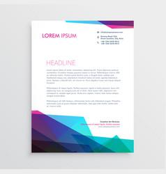 Creative vibrant letterhead design vector