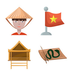 Design vietnam and traditional logo vector
