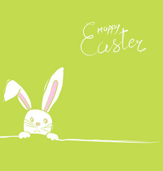easter rabbits card in green vector image