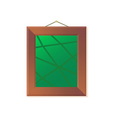 Exhibition or museum picture on wall art vector