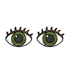 Eyes icon image vector