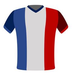Flag t-shirt of france vector