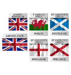 Flags of United Kingdom vector image