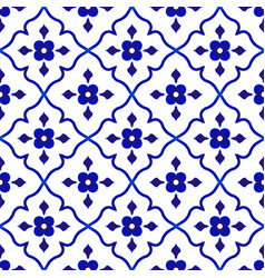 Flower tile pattern vector