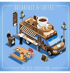 Food Truck 09 Isometric Vehicles vector