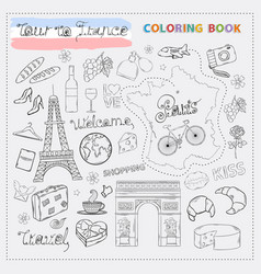 france tour icon sethand draw doodle sign vector image