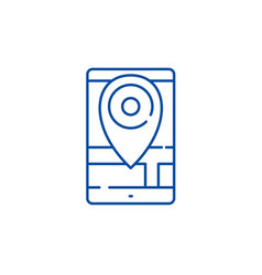 geolocation line icon concept geolocation flat vector image