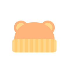 Hat with ears baby clothes vector