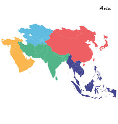 high quality map asia vector image